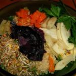 no-so-raw-bowl-quinoa-roasted-fennel-carrots-parsley-sauerkraut