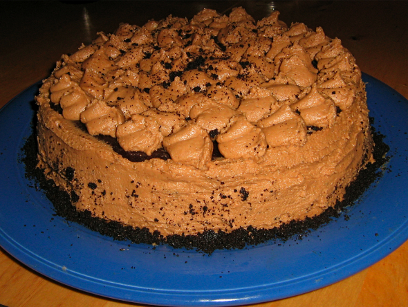 ... Cookie Dough Cake with Chocolate Buttercream (gluten-free, dairy-free