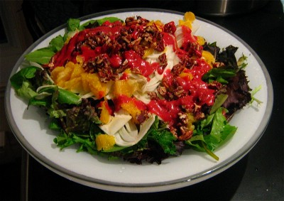 pecan-orange-raspberry-salad