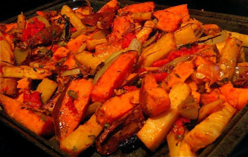 roasted-parsnips-sweet-potatoes-capers-tomatoes