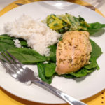 baked-chicken-dijon-with-rice-spinach-leeks-vinaigrette