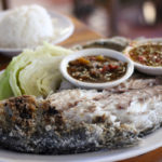 Night market On Nut BTS, whole grilled fish