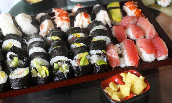 vegetarian sushi class montreal