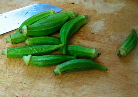 okra stir-fry with lemon