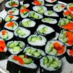 30 Lbs of Cucumbers, Part 2: Cucumber and ORANGE PEPPER Sushi