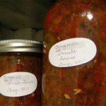 20 lbs of Tomatoes = 3 Jars of Non-Shelf Stable Tomato Sauce?