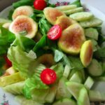 Sweet and Savoury Fig and Tomato Salad and How to Make a Decent Salad Dressing