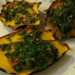 Roasted Acorn Squash Slices with Lemon, Herbs, and Garlic