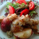 Roasted Jerusalem Artichokes and Potatoes