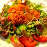 Shaved Beet, Carrot & Apple Slaw with Cider Vinegar Dressing