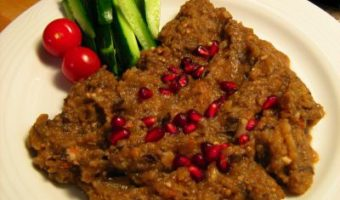 Babaghanoush with Pomegranate
