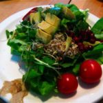 A Winter-Summer Raw Green Salad with Avocado and Miso-Tahini Dressing