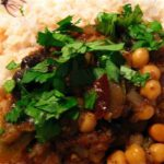 Local Organic Yellow Pea Curry (Almost Chana Masala)