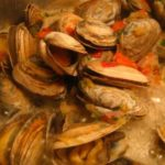 Cherrystones, Steamers, and Littleneck Clams with Vermouth, Lemon Zest, and Parsley