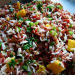 Almost-Thai Mango, Almond and Red Rice Salad