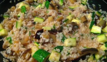 Lemon Risotto with Zucchini and Parsley