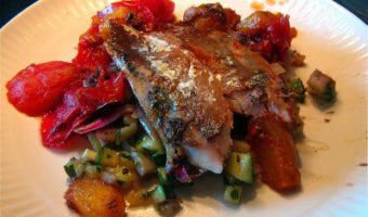 Remaking a Champion: Seared Mackerel and Mango with Ratatouille