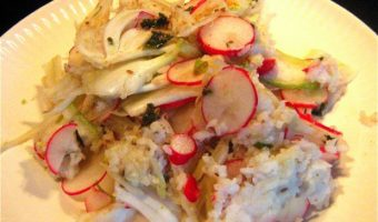 """Plenty"" of Mistakes: Rice, Radish and Avocado Salad with Lemon-Cumin Vinaigrette"
