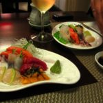 Sushi Cage Restaurant in Lima: Gluten-free soy sauce, scallop sashimi and Argentinian wine