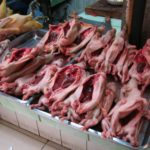 Cooking in Huaraz – Cleaned Guinea Pigs and Pigs Heads