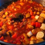 Slow-Cooker Vegetarian Mixed Bean Chili with Parsnips, Carrots and Eggplant