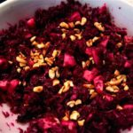 "Red Cabbage Salad with Apple and Toasted Cashews (aka ""tasty kraut for cheaters"")"
