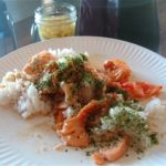 Wild Arctic Char Chirashizushi: Scattered fish on sushi rice with homemade pickled ginger