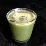 Juicing with Greens and Cheating on Raw: Apple, lychee, kale, quince, peach, spirulina