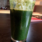 Green Smoothies 101: Apple, orange, kale, pineapple, soaked dates, and magical(?) spirulina