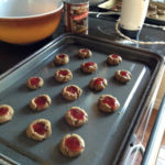Gluten-free, Vegan Strawberry Jam Thumbprint Cookies