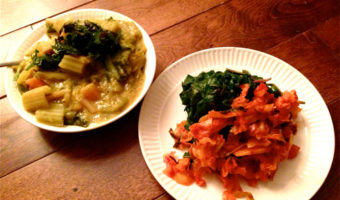 The Best Way to Eat 5 Lbs of Swiss Chard and 1/2 L of Kimchi: Spiced Red Lentil Dal