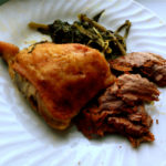 Roasted Faux Fried Chicken with Collard Greens