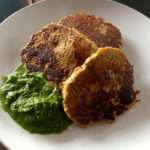 Savoury Squash Pancakes with Lime-Basil Pesto
