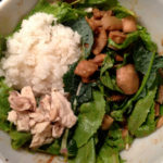 Sweet Sesame Eggplant and Chicken Salad Bowl
