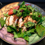 Roasted Chicken Salad with Toasted Almonds, Cranberries, and Balsamic