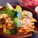 Tequila Chicken Tacos with Guajillo Salsa