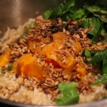 Spiced Orange, Fig and Toasted Sunflower Pilaf
