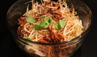 "Bean Sprouts with Fried Fish and Chili from ""Heavenly Fragrance"""