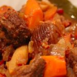Bison (or Lamb) Tajine with Sweet Potatoes and Apricots (Not Dates)