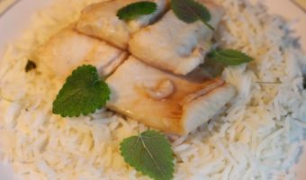 Maple and Wine Poached Fish