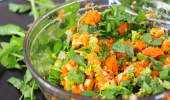 Summery Sweet Potato and Arugula Salad