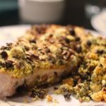 Swordfish with Sunflower, Currants and Capers