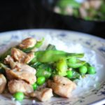 Everyday Chinese Stir-Fried Chicken with Bok Choy and Snow Peas