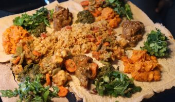 How to Throw a Vegan Ethiopian Dinner Party and Make Your Friends Eat Off the Table