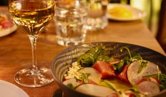 Jellyfish Crudo Charbon: Delicious Ceviche and Cauliflower and a Natural-Leaning Wine List