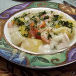 Shrimp and Cod Chowder (Dairy-Free)