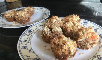 gluten free vegan sweet potato and banana muffins