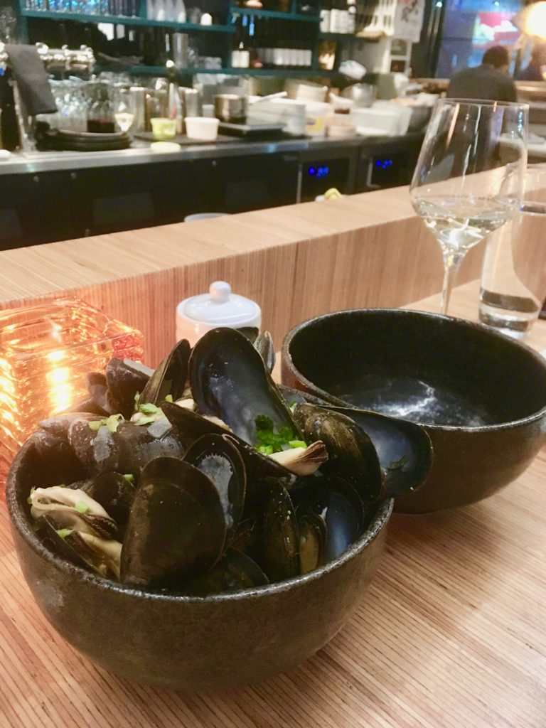 Mussels at Blossom Bar Montreal
