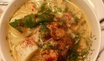 Scallops and cod chowder dairy free